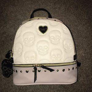 BRAND NEW Betsey Johnson Studded Skull Backpack